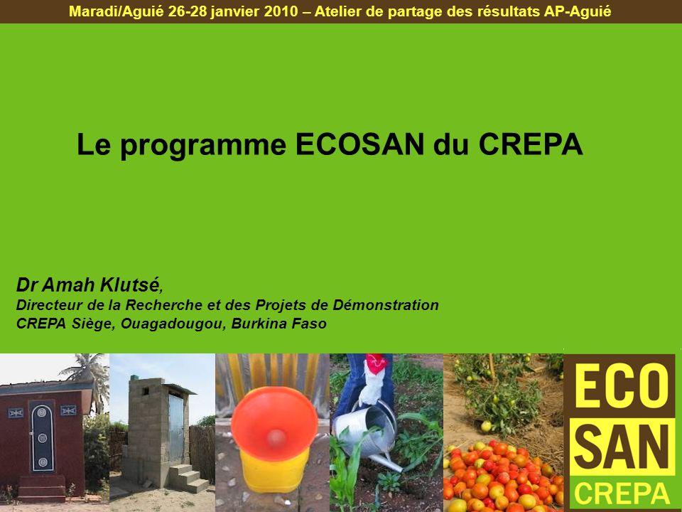 Le programme ECOSAN du CREPA