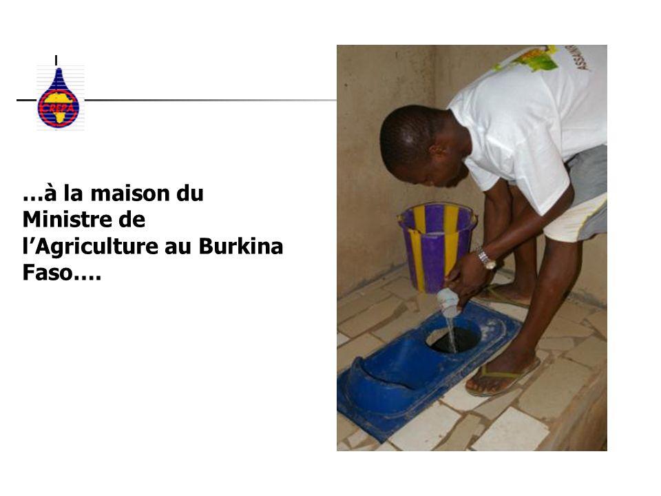 …à la maison du Ministre de l'Agriculture au Burkina Faso….