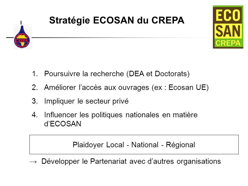 Stratégie ECOSAN du CREPA