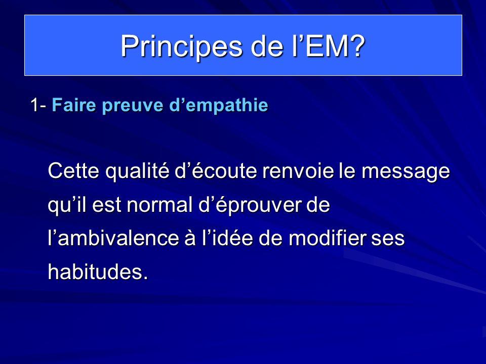 Principes de l'EM 1- Faire preuve d'empathie.