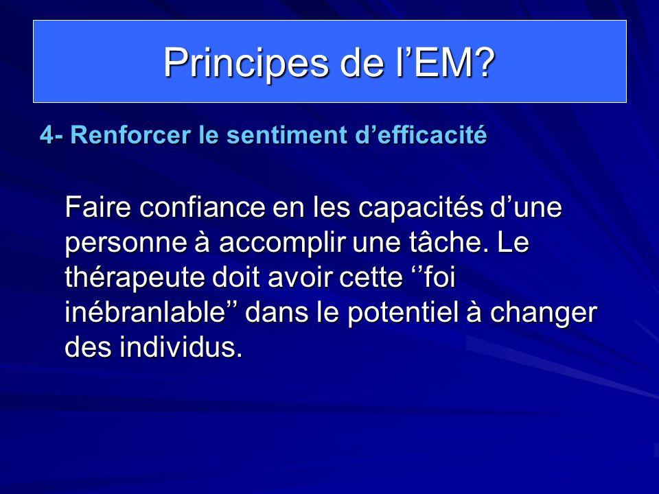 Principes de l'EM 4- Renforcer le sentiment d'efficacité