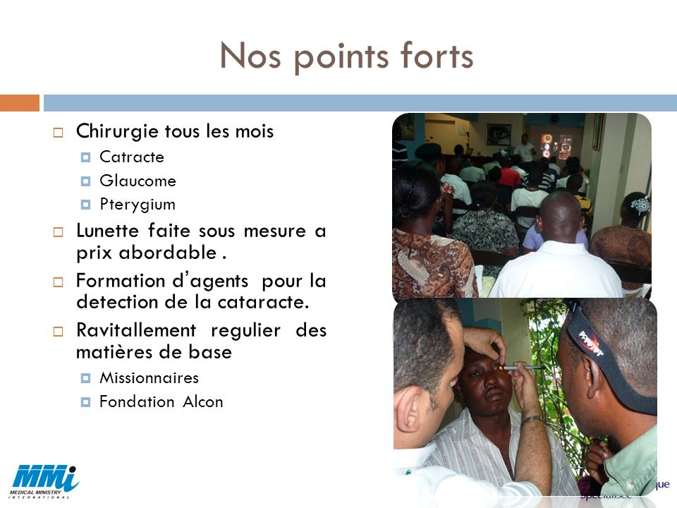Nos points forts Chirurgie tous les mois