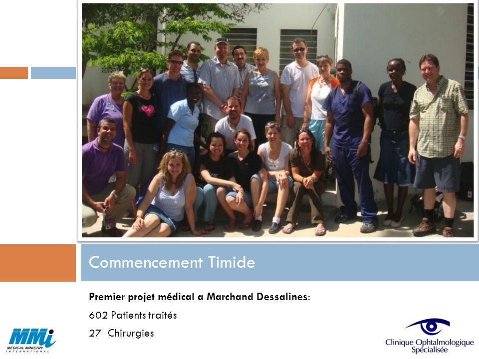 Commencement Timide Premier projet médical a Marchand Dessalines: