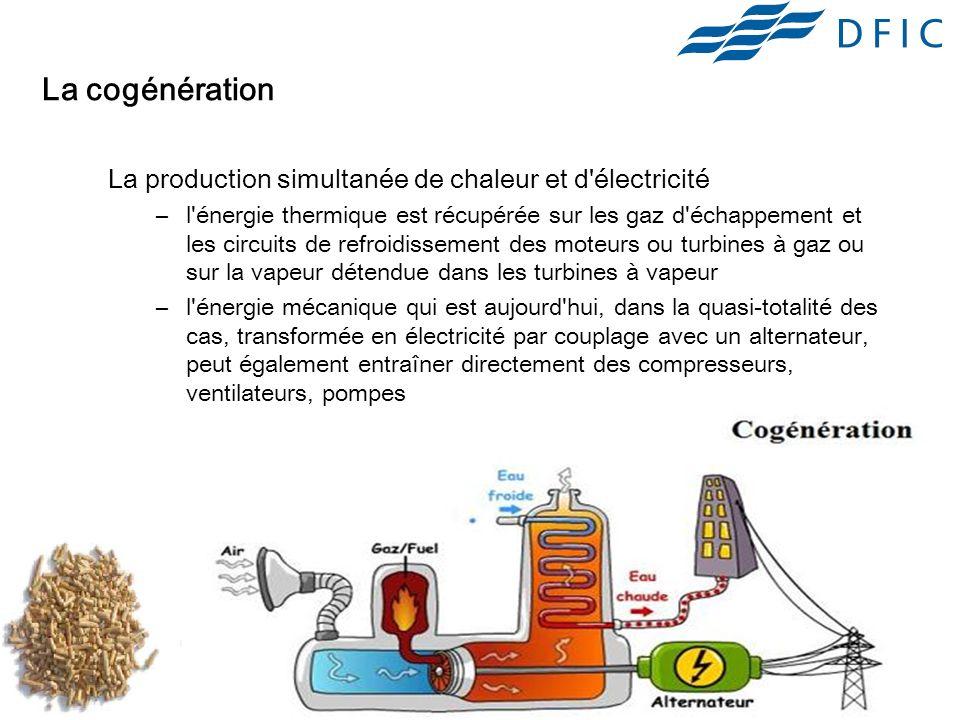 La cogénération La production simultanée de chaleur et d électricité