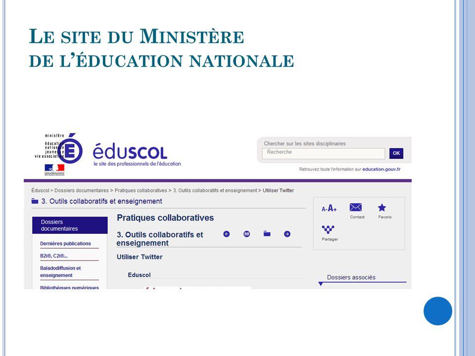 Le site du Ministère de l'éducation nationale