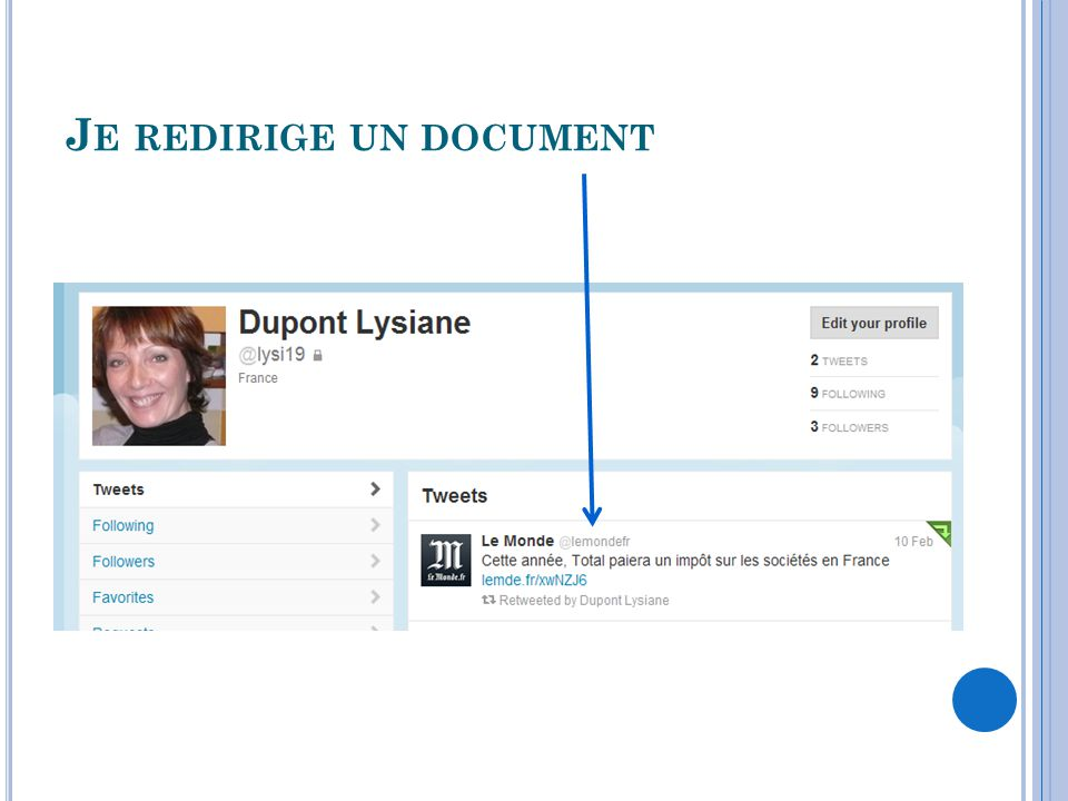 Je redirige un document