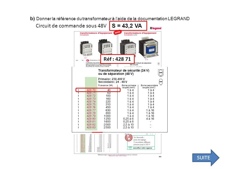 Circuit de commande sous 48V S = 43,2 VA