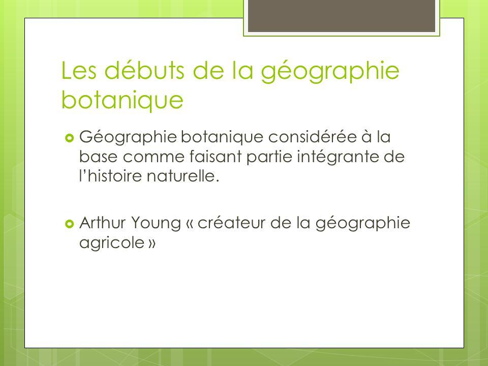Les débuts de la géographie botanique