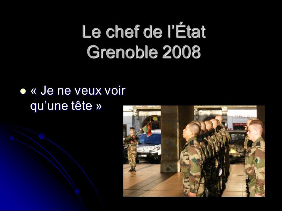 Le chef de l'État Grenoble 2008