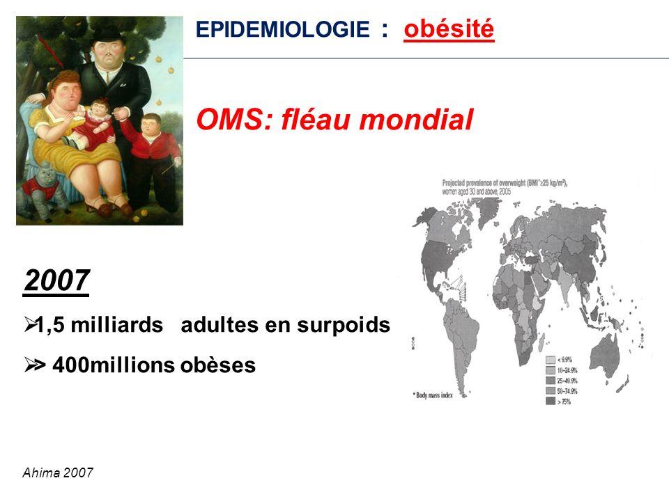 2007 EPIDEMIOLOGIE : obésité OMS: fléau mondial