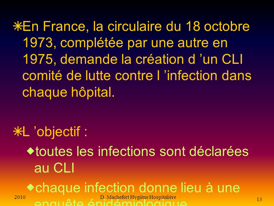 D. Machefert Hygiène Hospitalière