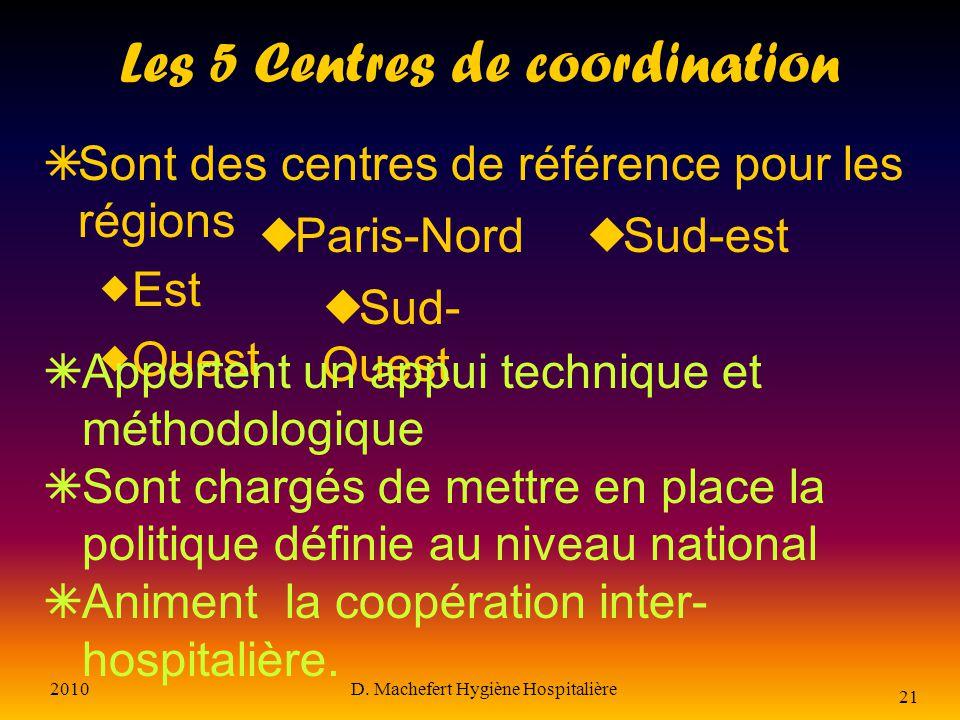 Les 5 Centres de coordination
