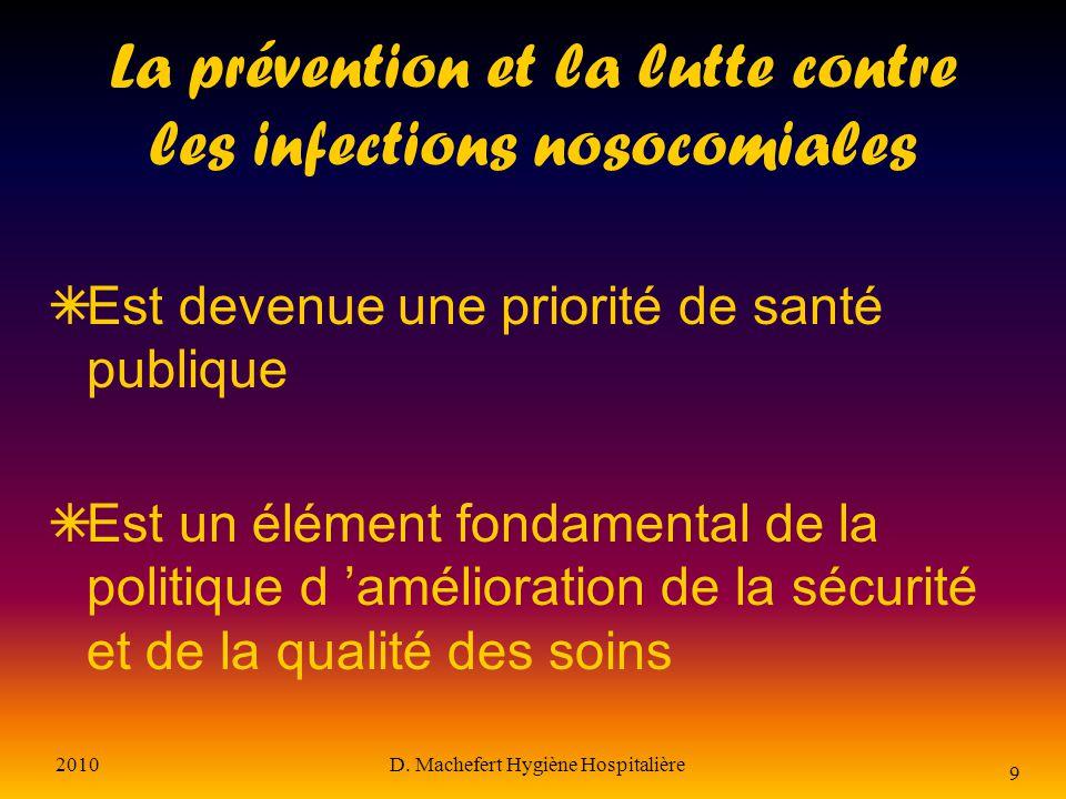 La prévention et la lutte contre les infections nosocomiales