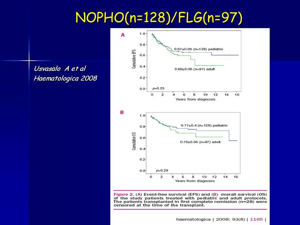 NOPHO(n=128)/FLG(n=97) Usvasalo A et al Haematologica 2008
