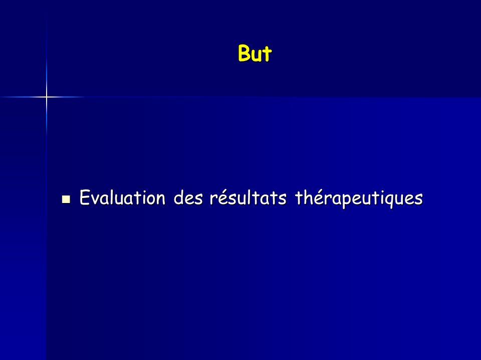 But Evaluation des résultats thérapeutiques