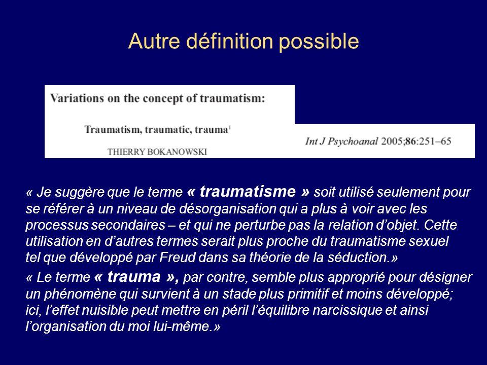 Autre définition possible