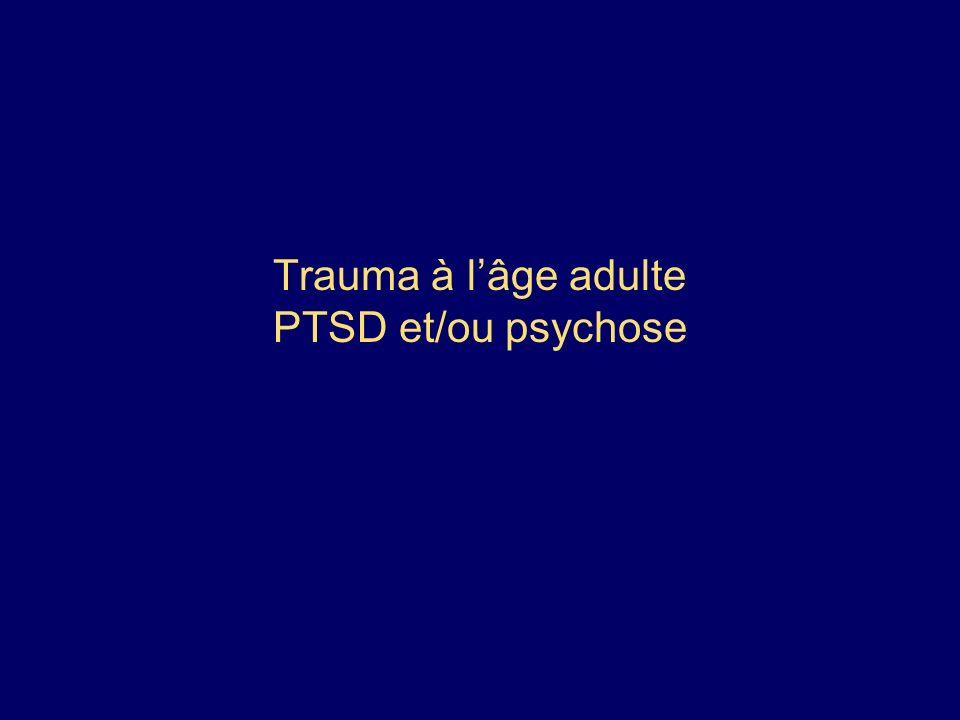 Trauma à l'âge adulte PTSD et/ou psychose