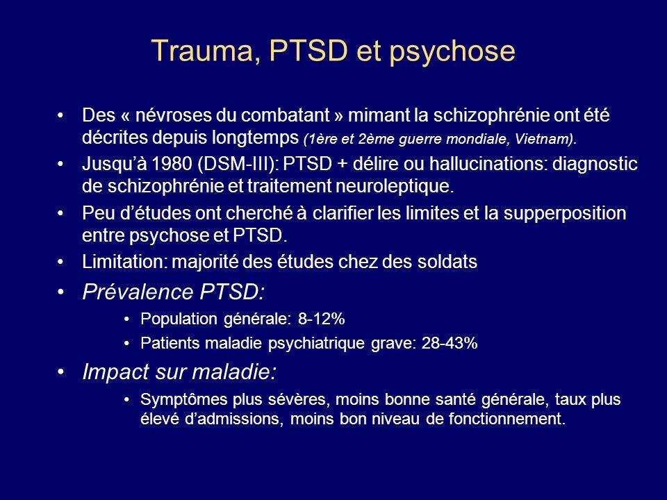 Trauma, PTSD et psychose