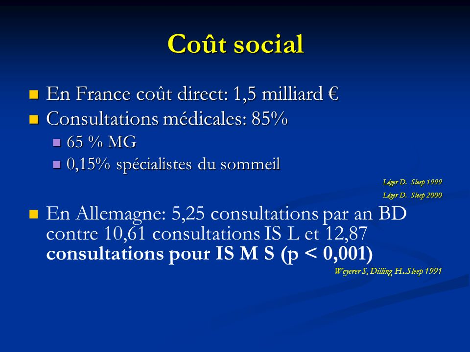 Coût social En France coût direct: 1,5 milliard €