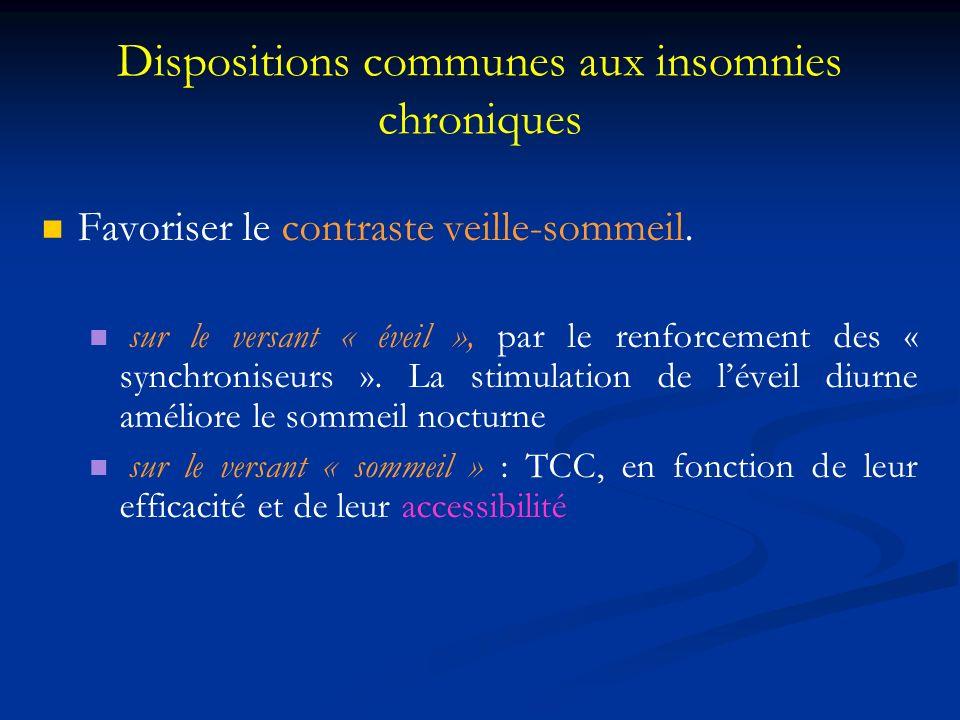 Dispositions communes aux insomnies chroniques