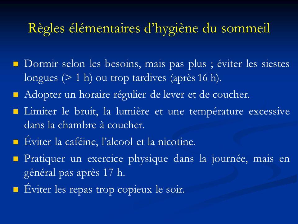 Règles élémentaires d'hygiène du sommeil
