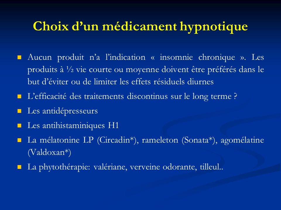 Choix d'un médicament hypnotique
