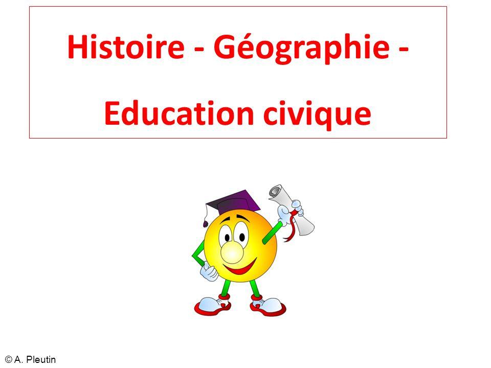 Histoire - Géographie - Education civique