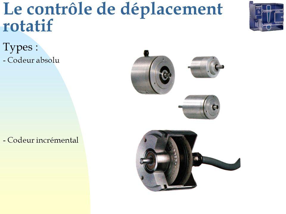 Le contrôle de déplacement rotatif