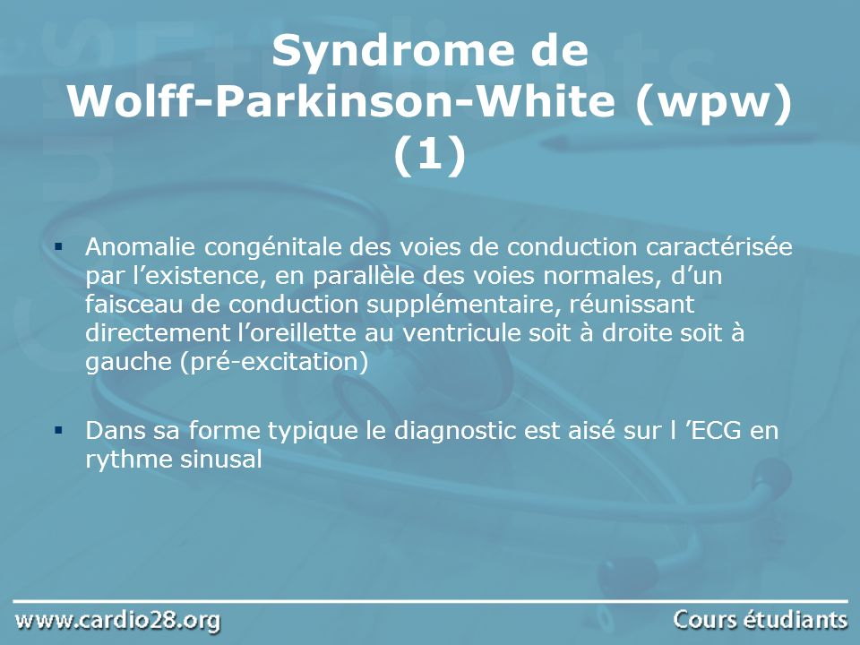 Syndrome de Wolff-Parkinson-White (wpw) (1)