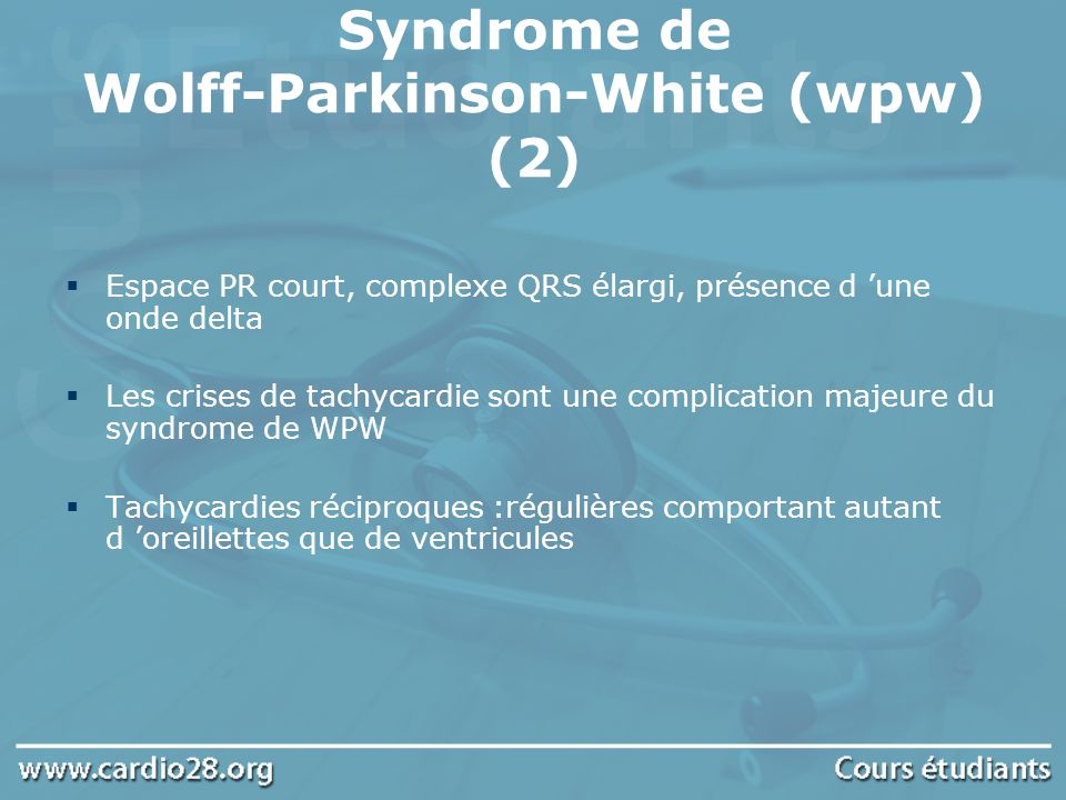 Syndrome de Wolff-Parkinson-White (wpw) (2)