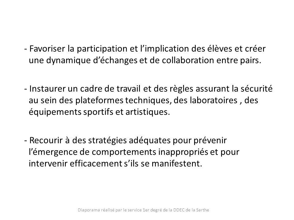 Diaporama réalisé par le service 1er degré de la DDEC de la Sarthe