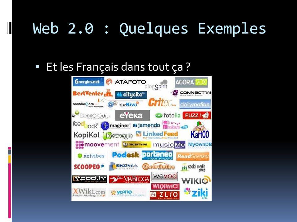 Web 2.0 : Quelques Exemples
