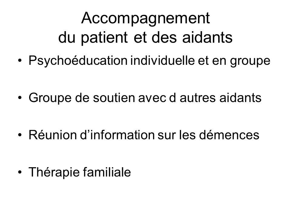Accompagnement du patient et des aidants