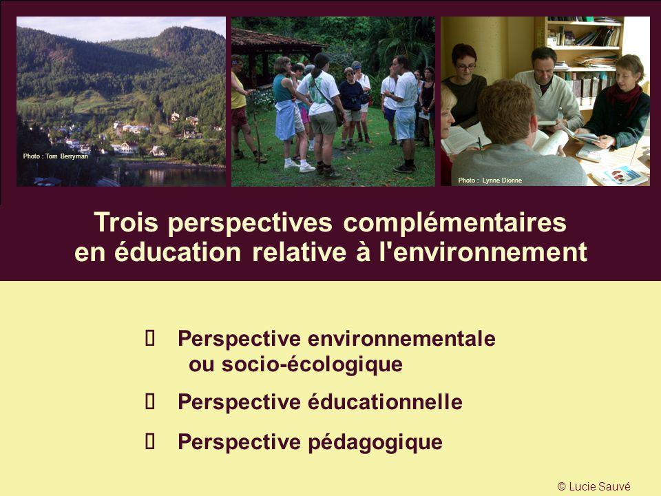 Trois perspectives complémentaires