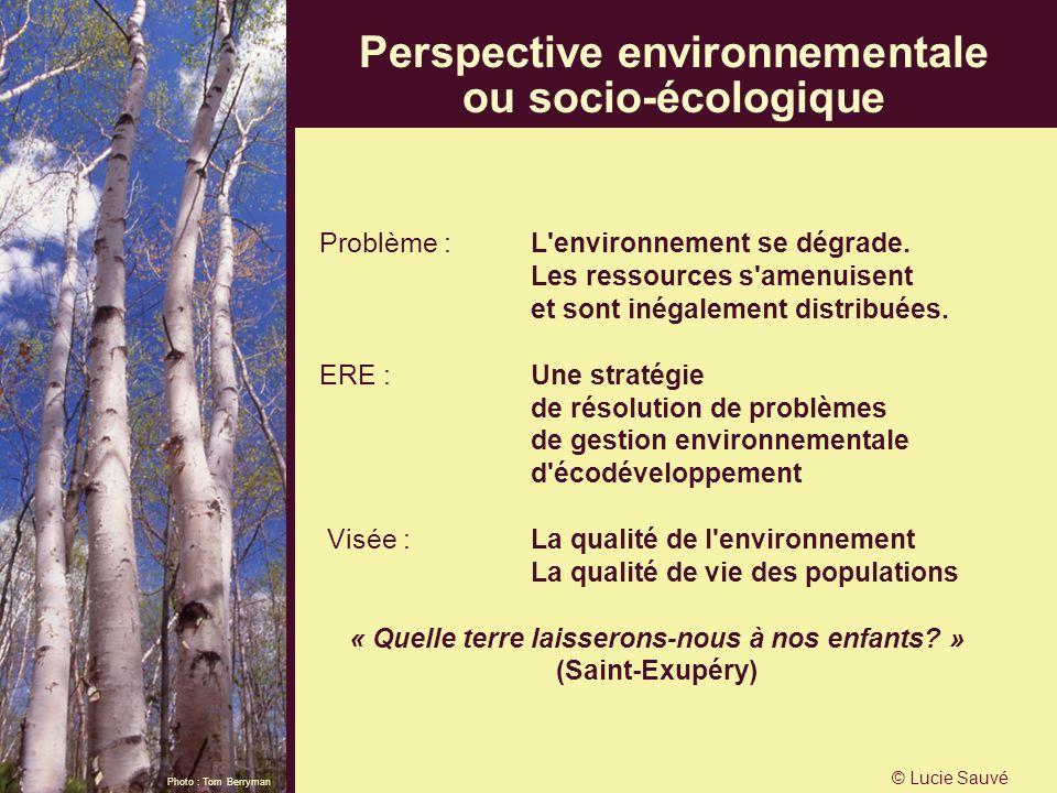 Perspective environnementale ou socio-écologique