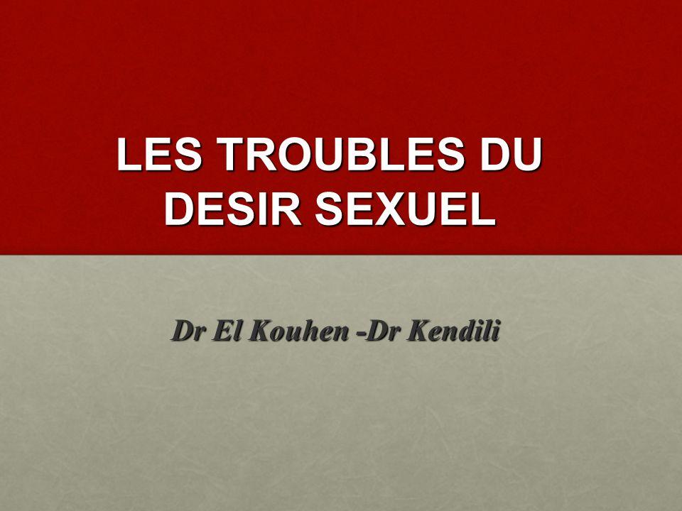 LES TROUBLES DU DESIR SEXUEL
