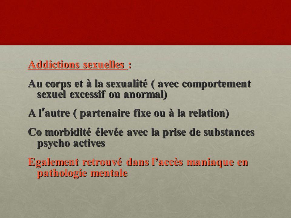 Addictions sexuelles :