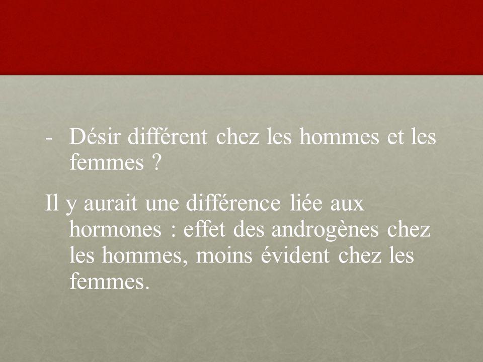 Désir différent chez les hommes et les femmes