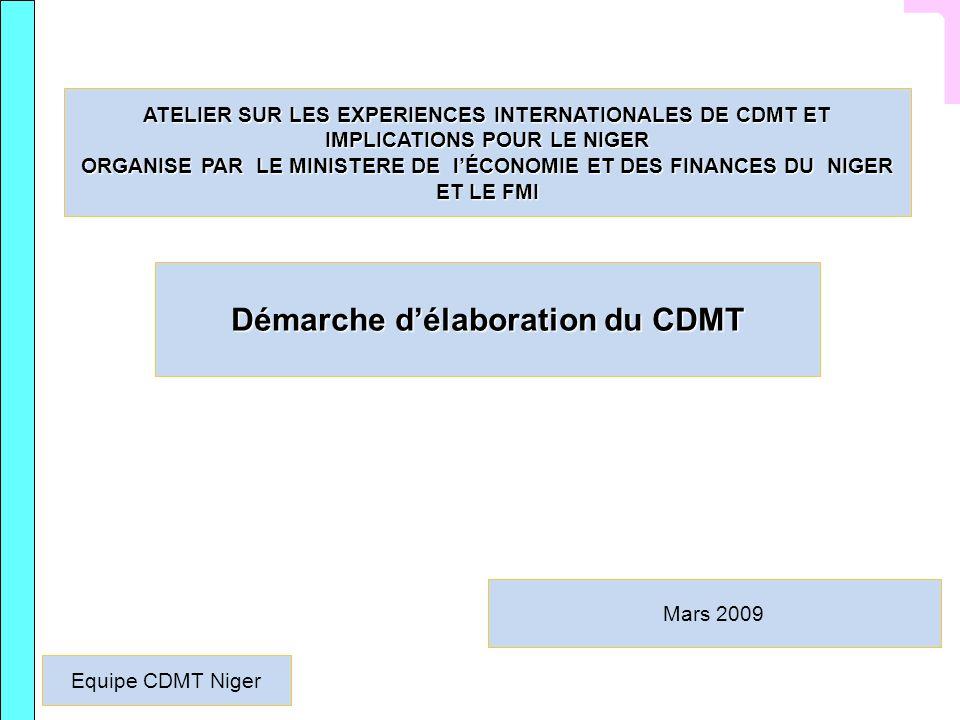 Démarche d'élaboration du CDMT