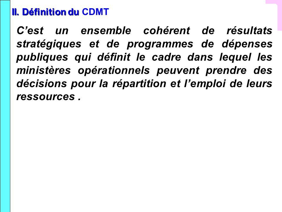 II. Définition du CDMT