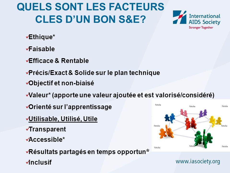 QUELS SONT LES FACTEURS CLES D'UN BON S&E