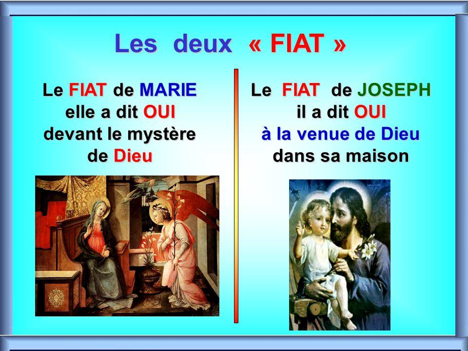 Les deux « FIAT » Le FIAT de MARIE elle a dit OUI devant le mystère de Dieu.
