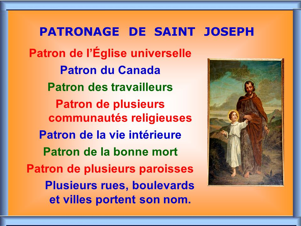 PATRONAGE DE SAINT JOSEPH