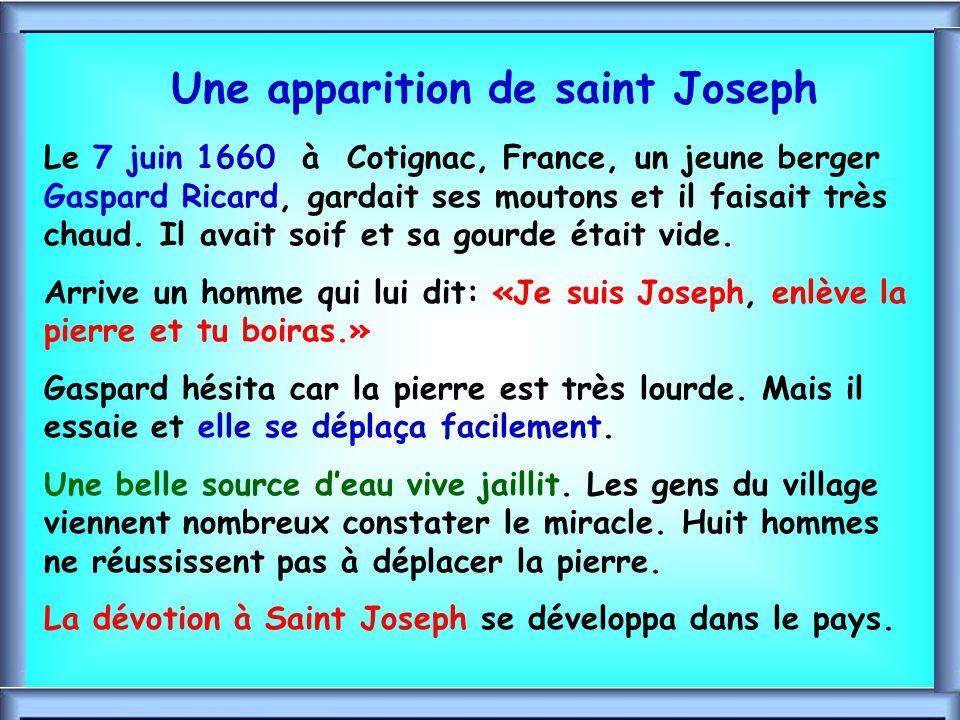 Une apparition de saint Joseph