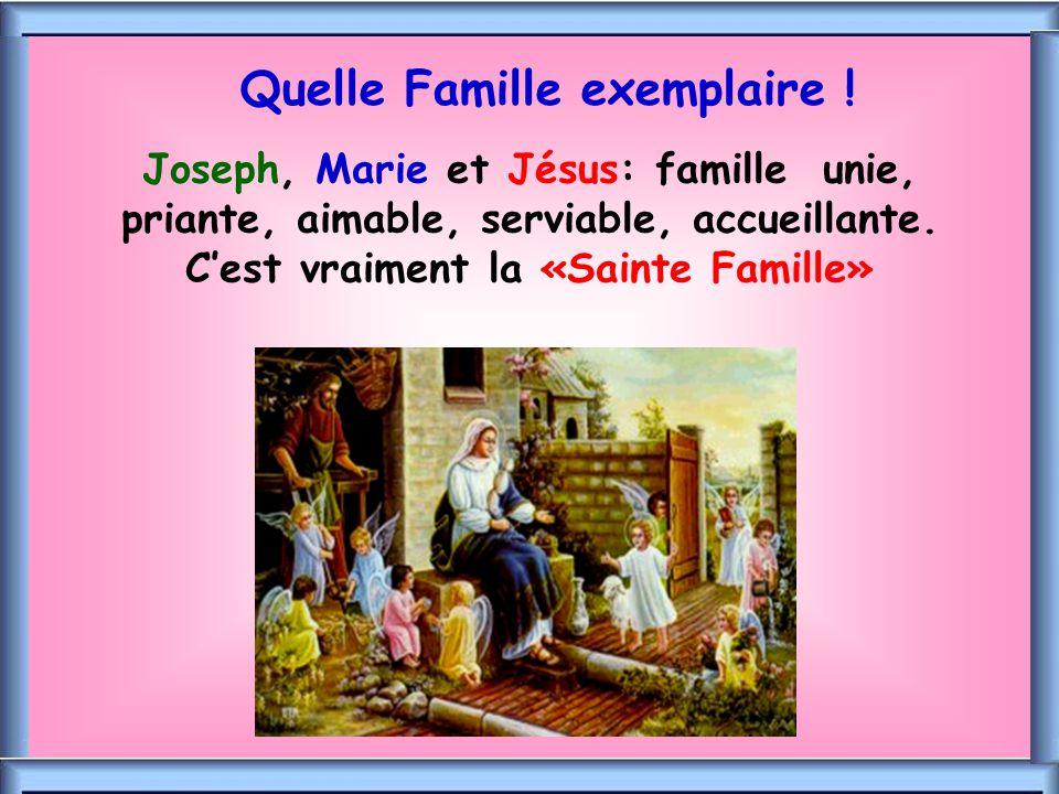 Quelle Famille exemplaire !