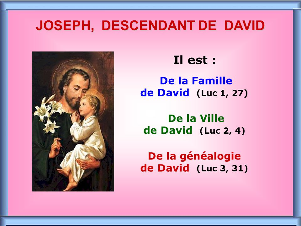 JOSEPH, DESCENDANT DE DAVID
