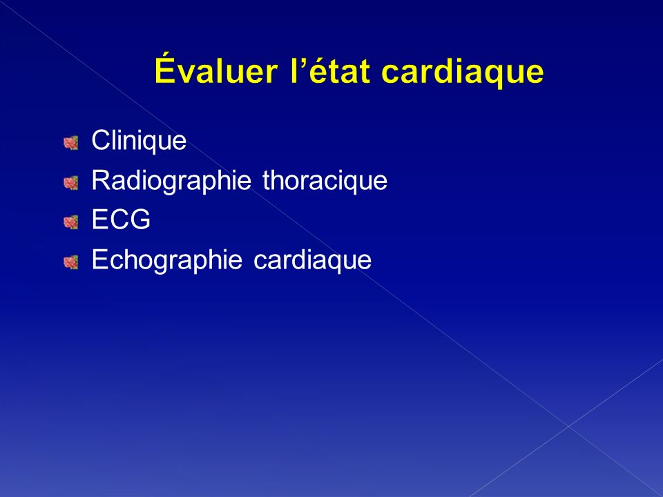 Évaluer l'état cardiaque