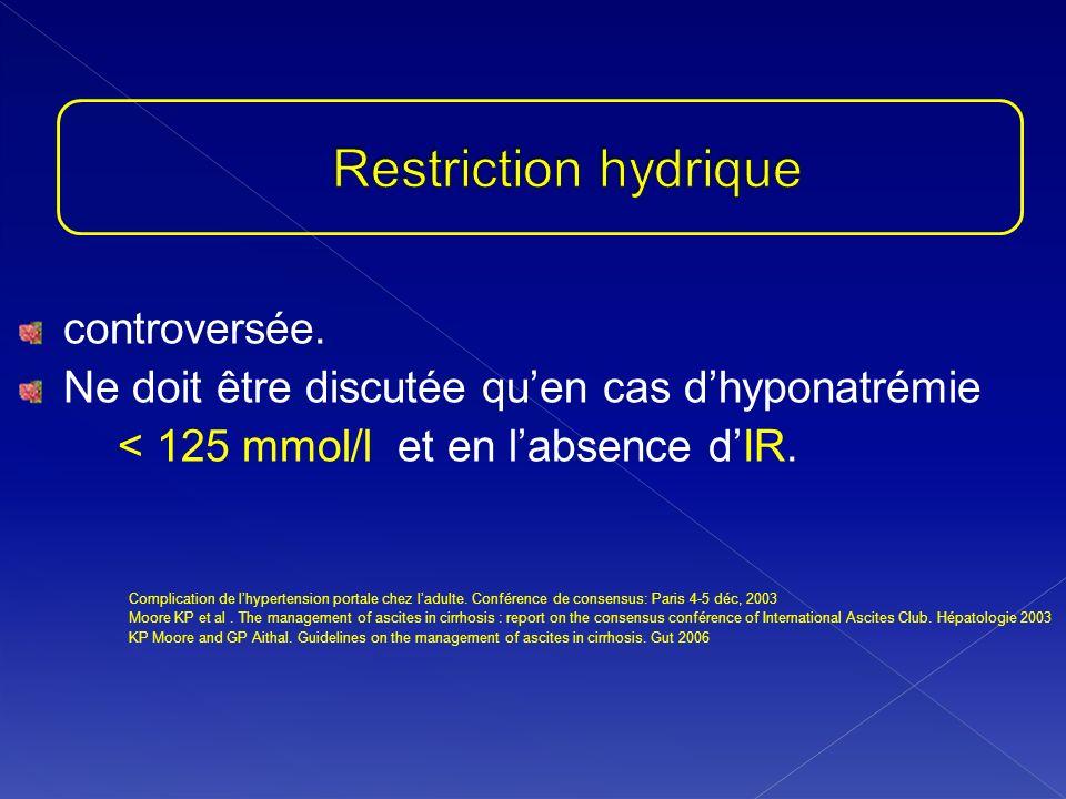 Restriction hydrique controversée.