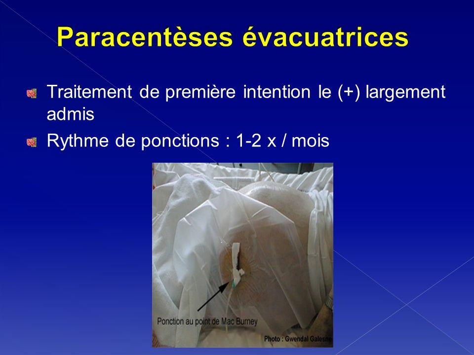 Paracentèses évacuatrices