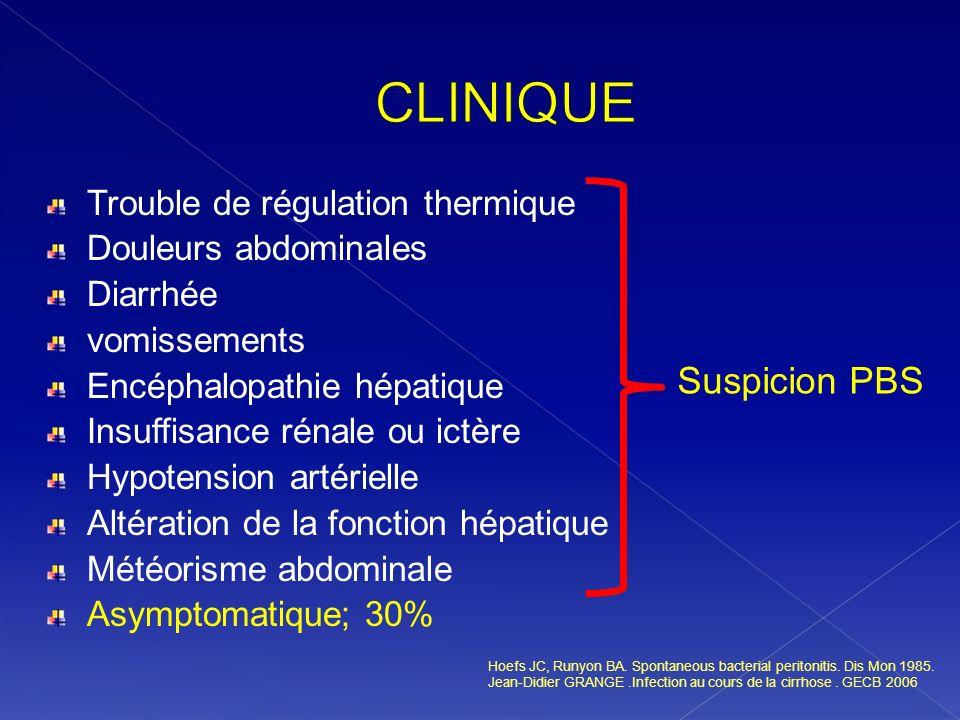 CLINIQUE Suspicion PBS Trouble de régulation thermique